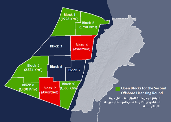 Open blocks for the Second Offshore Licensing Round